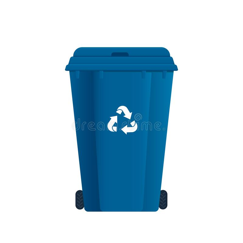 Dumpster or Trash can. Sorting garbage. Recycle waste royalty free illustration