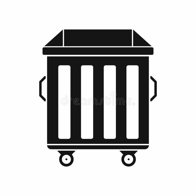 Dumpster on wheels icon, simple style vector illustration
