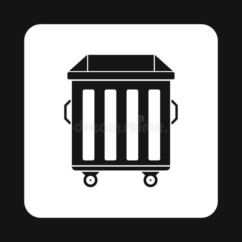 Dumpster on wheels icon, simple style royalty free illustration