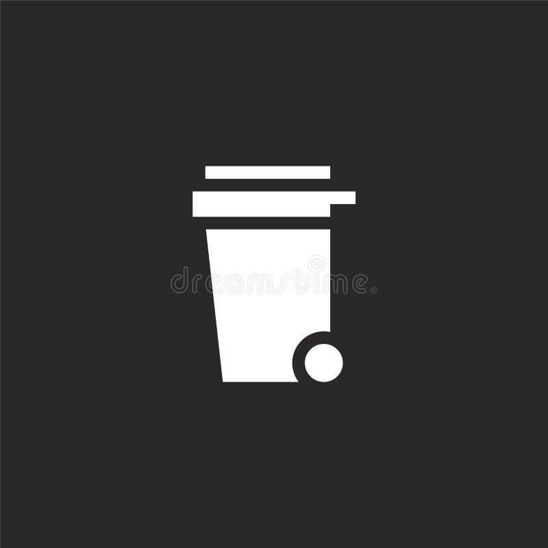 Dumpsterpictogram Gevuld dumpster pictogram voor websiteontwerp en mobiel, app ontwikkeling dumpster pictogram van de gevulde inz stock illustratie