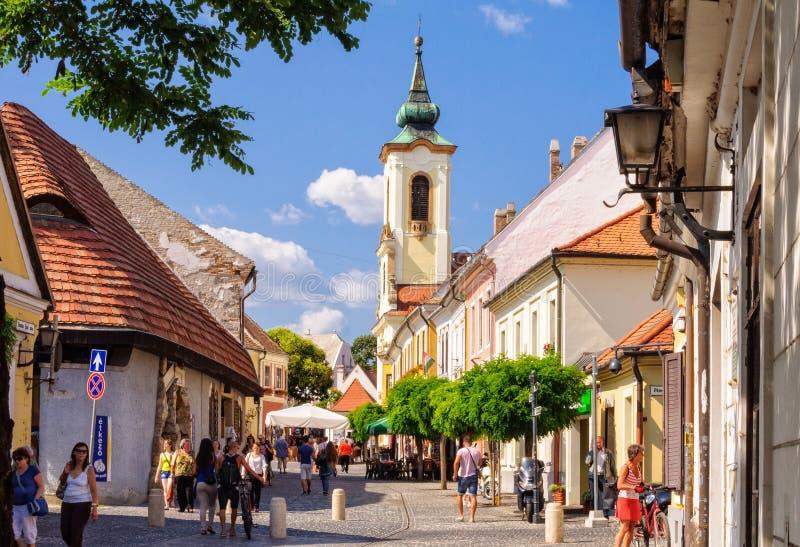 Bell tower - Szentendre royalty free stock photos