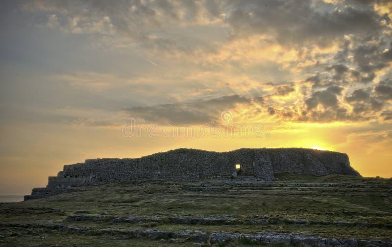 Dun Aengus på solnedgången