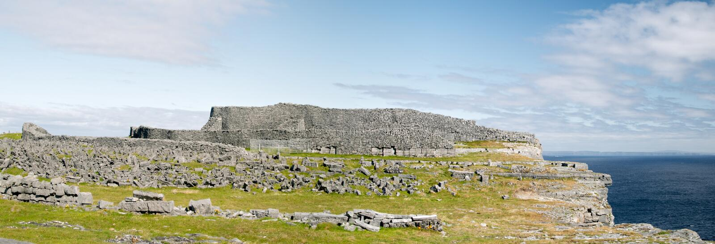Dun Aonghasa, isole di Aran fotografie stock