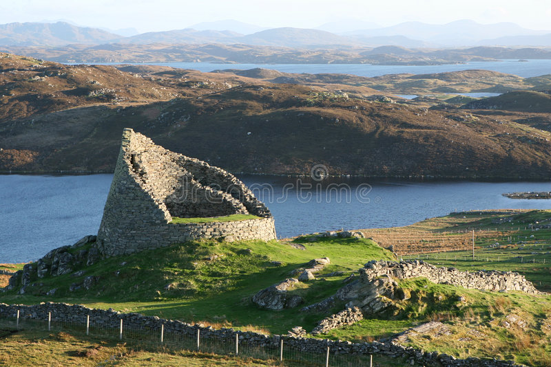Dun Carloway royalty free stock photography
