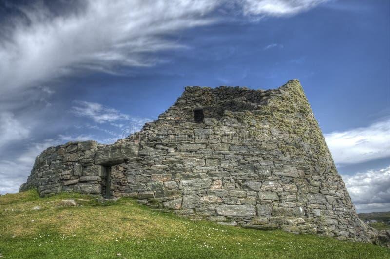 Dun Carloway Broch, ilha de Lewis foto de stock royalty free