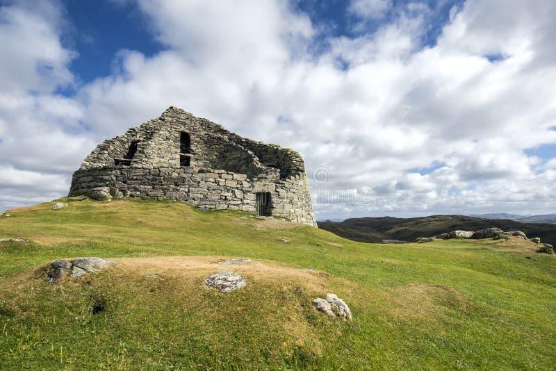 Dun Carloway Broch, ilha de Lewis, Hebrides exterior fotos de stock royalty free