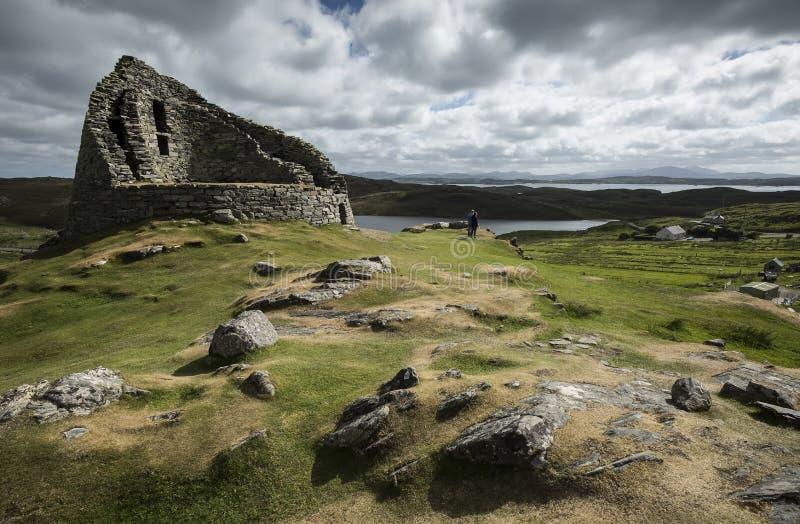 Dun Carloway Broch, isla de Lewis, Hebrides externo foto de archivo libre de regalías