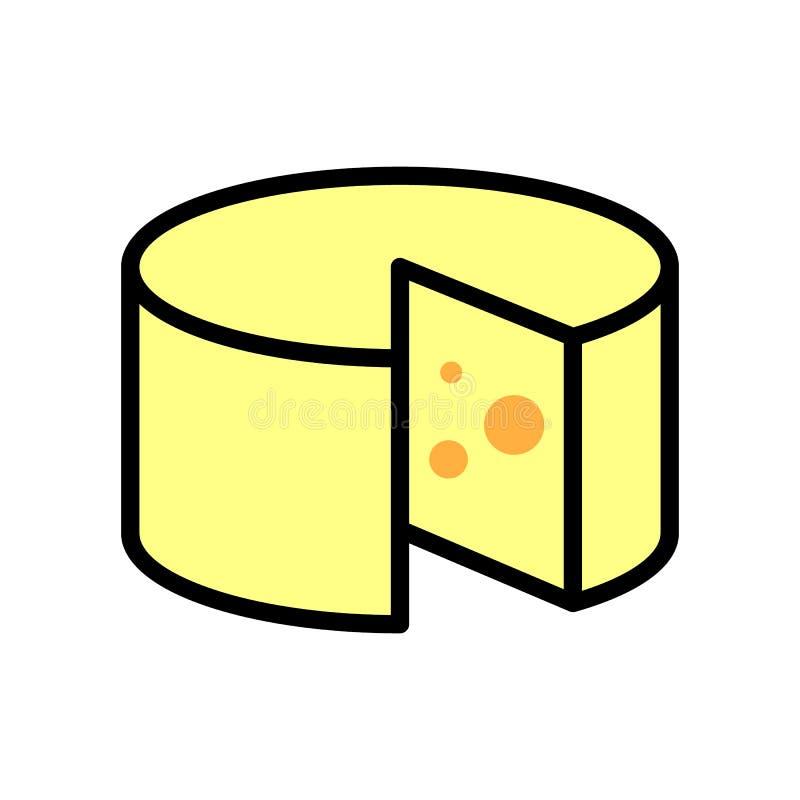 Dun lineair pictogram kauwwiel Etiket zuivelfabriek Het logo van de beschrijving van gezond natuurlijk voedsel vector illustratie