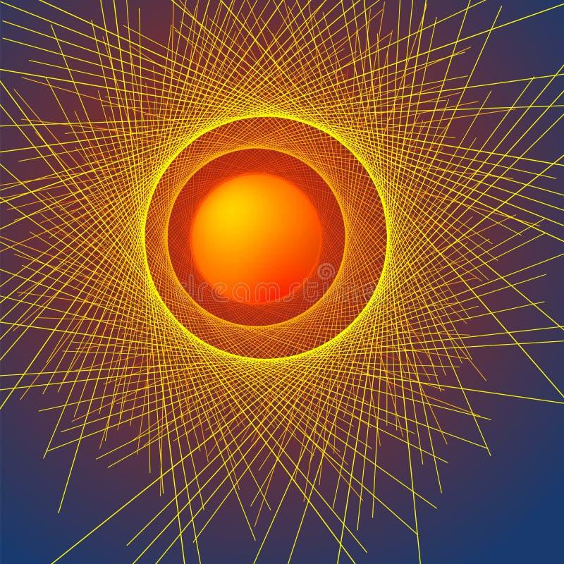 Duna abstracta effect06 del eclipse del fondo ilustración del vector