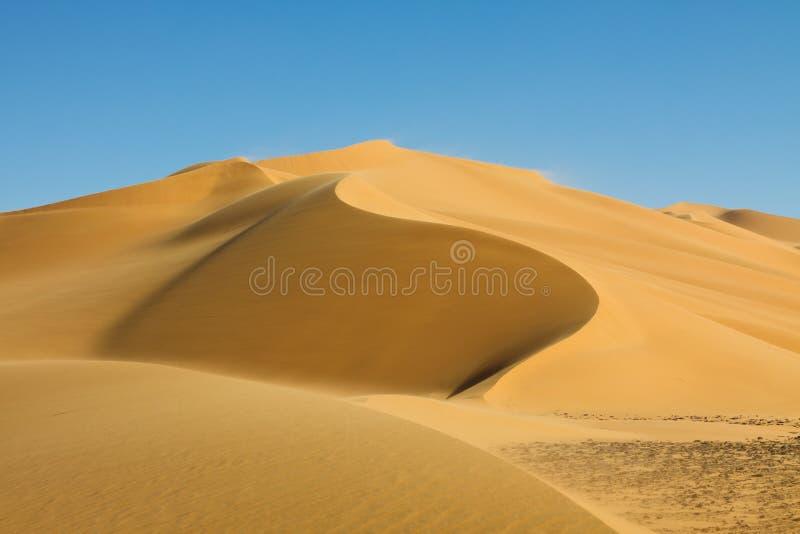 Duna bonita - ERG Tamesset - Sahara, Líbia fotografia de stock royalty free