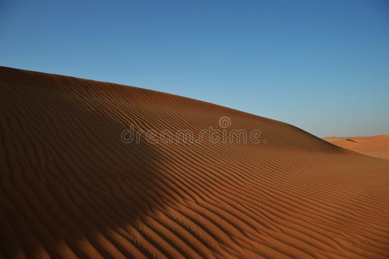 Duna de areia no deserto, Dubai, UAE foto de stock royalty free