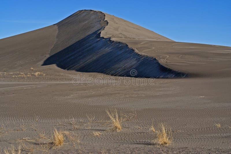 Duna de areia no parque estadual das dunas de Bruneau fotografia de stock royalty free