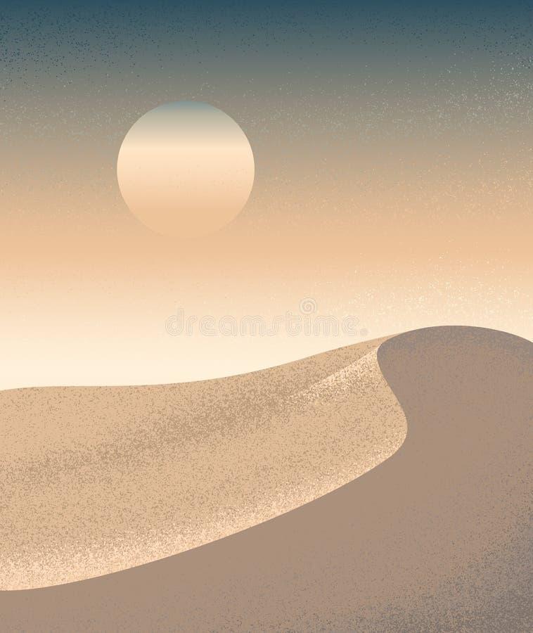Duna de arena del desierto libre illustration