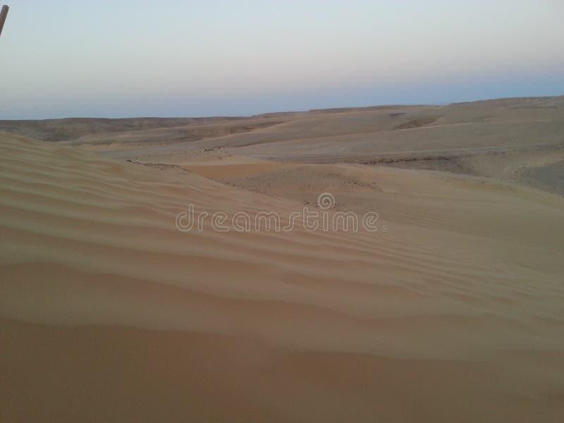 Duna del deserto verso il cielo al crepuscolo in Israele immagine stock libera da diritti