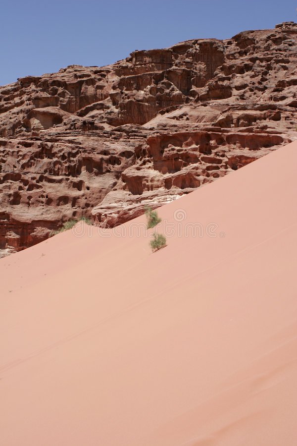 Duna di sabbia rossa e paesaggio del deserto fotografia stock