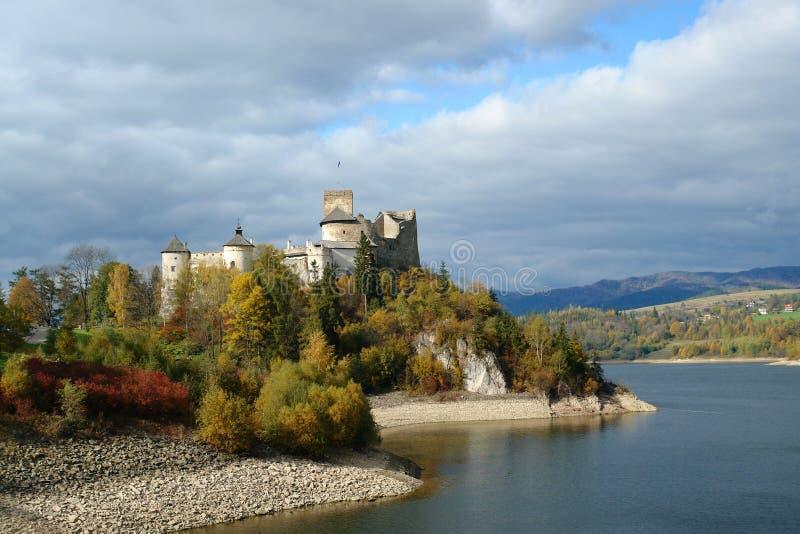 Dunajec castle. Medieval Dunajec castle in Niedzica by lake Czorsztyn, Poland stock photo