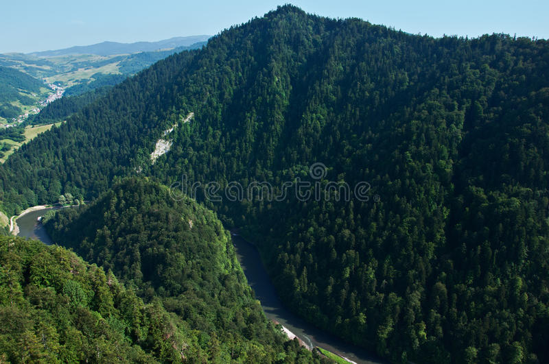 Dunajec river gorge royalty free stock photos