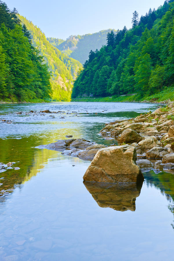 The Dunajec River Gorge. Pieniny Mountains. royalty free stock photography