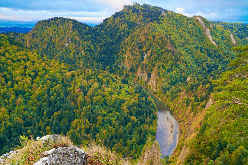 Download The Dunajec River Gorge. The Pieniny Mountains. Stock Photo - Image of carpathians, blue: 34324034