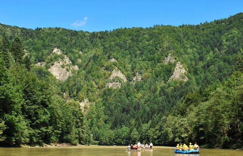 Dunajec river stock photography