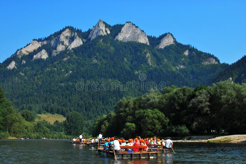 Dunajec river. In Pieniny Mountains in the Poland royalty free stock image