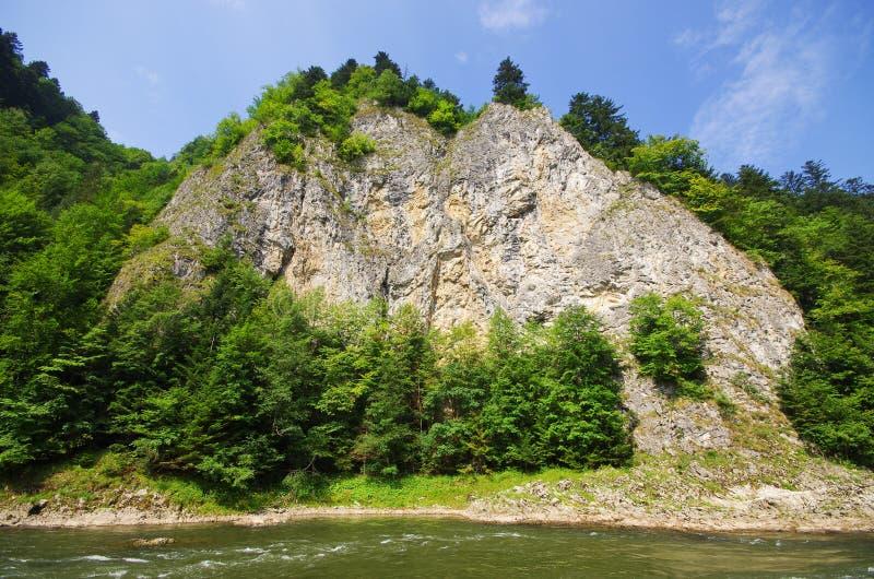 Dunajec river in Pieniny mountains, Poland stock photography