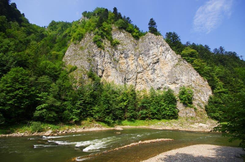 Dunajec river in Pieniny mountains, Poland royalty free stock image