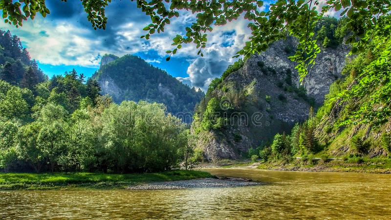 Dunajec river in Pieniny National Park in southern Poland. stock photography