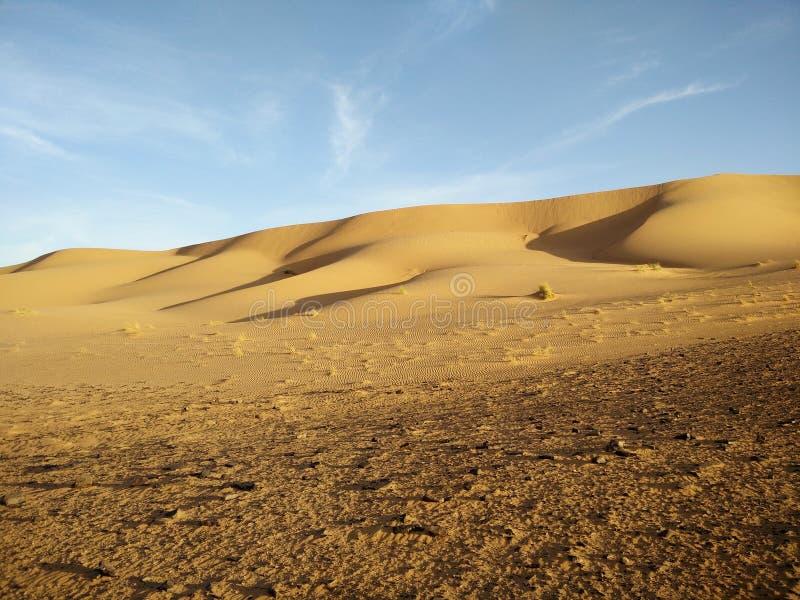Dunas de areia bonitas de Sahara fotografia de stock