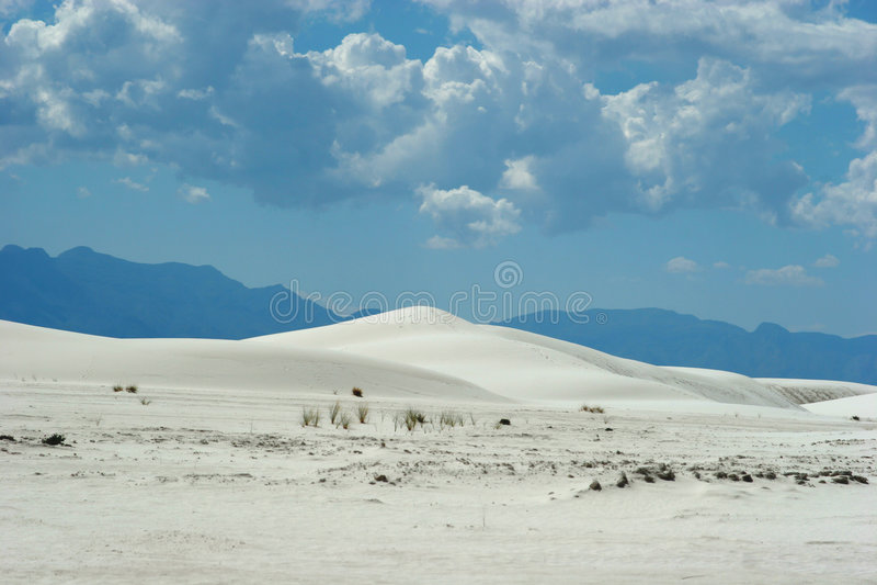 Dunas de areia brancas imagens de stock