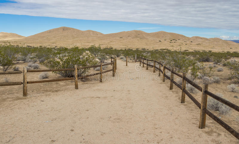 Dunas de areia de Kelso na conserva nacional do Mojave fotos de stock