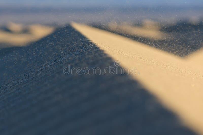 Dunas de areia do parque nacional de Vale da Morte imagens de stock