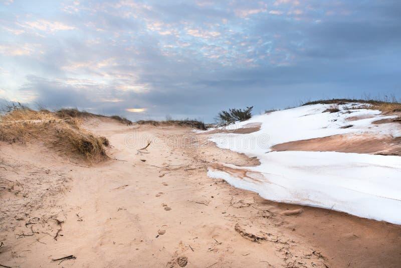 Dunas de areia do urso do sono fotografia de stock royalty free