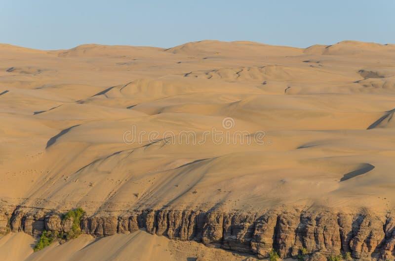 Dunas de areia elevadas impressionantes do deserto de Namib de Angola e de Namíbia imagem de stock royalty free