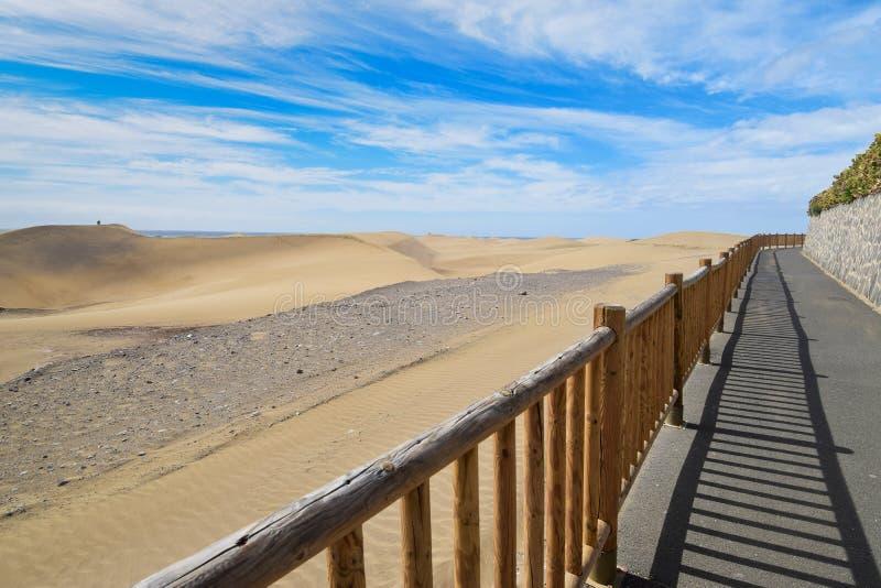 Dunas de areia em Maspalomas Gran Canaria fotografia de stock royalty free