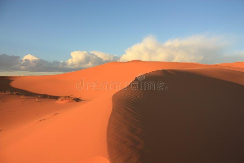 Dunas de areia em Sahara Desert em Merzouga Marrocos foto de stock