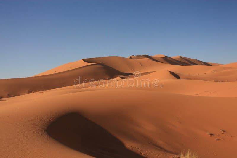 Dunas de areia em Sahara Desert em Merzouga Marrocos fotos de stock royalty free