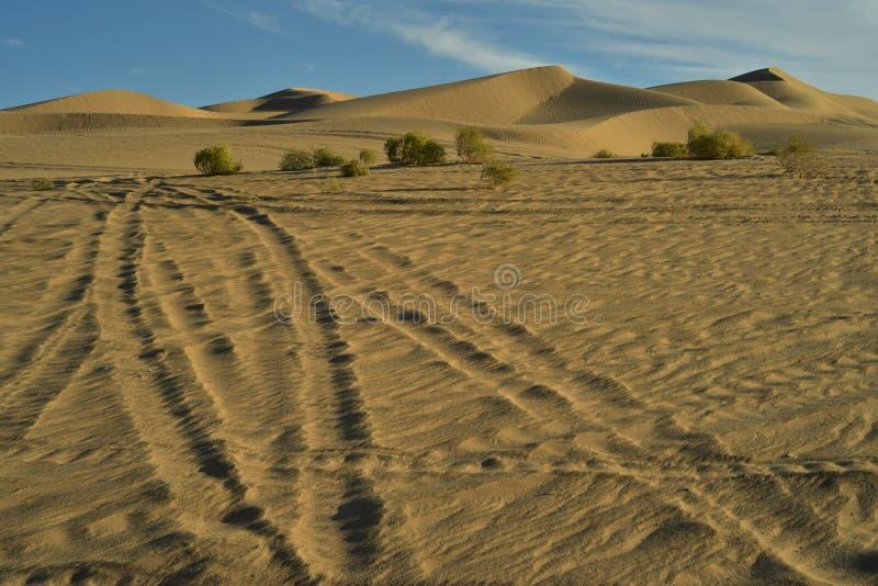 Dunas de areia na área recreacional imperial das dunas de areia, Califórnia imagens de stock