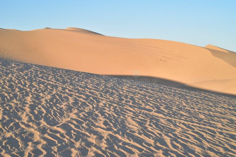 Dunas de areia na área recreacional imperial das dunas de areia, Califórnia fotografia de stock royalty free