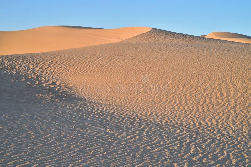 Dunas de areia na área recreacional imperial das dunas de areia, Califórnia fotos de stock royalty free