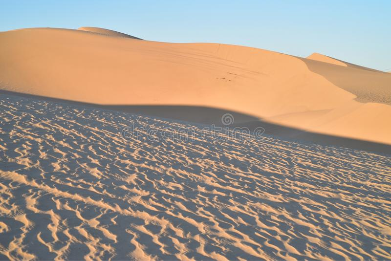 Dunas de areia na área recreacional imperial das dunas de areia, Califórnia fotos de stock