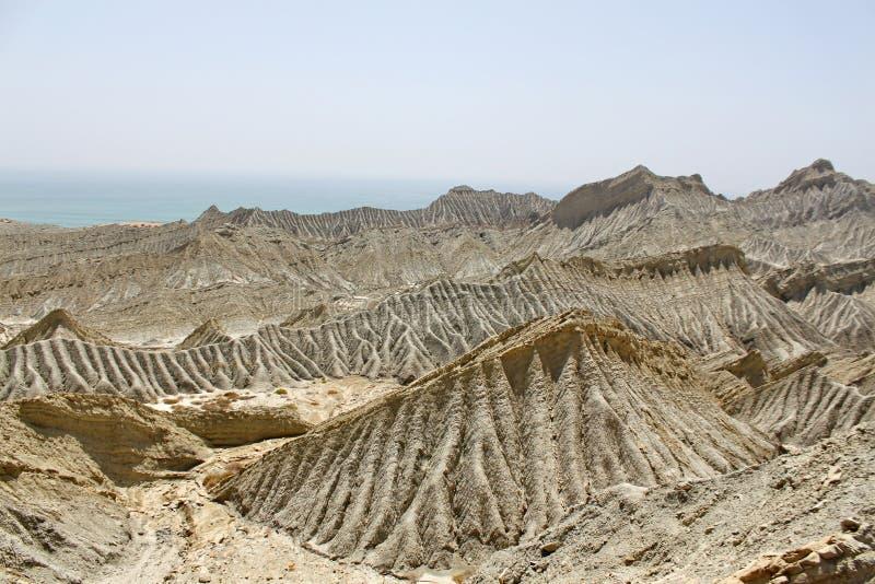 Dunas de arena abandonadas de Baluchistan Paquistán fotos de archivo
