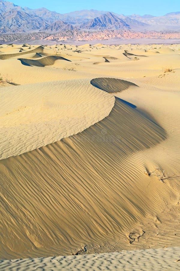 Dunas de arena de Death Valley imagenes de archivo