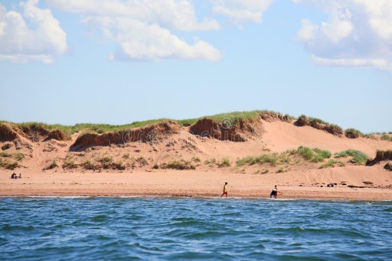Dunas de arena de Isla del Principe Eduardo fotos de archivo