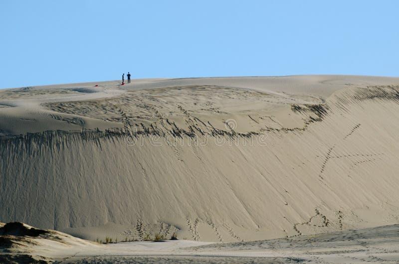 Dunas de arena de Te Paki fotografía de archivo