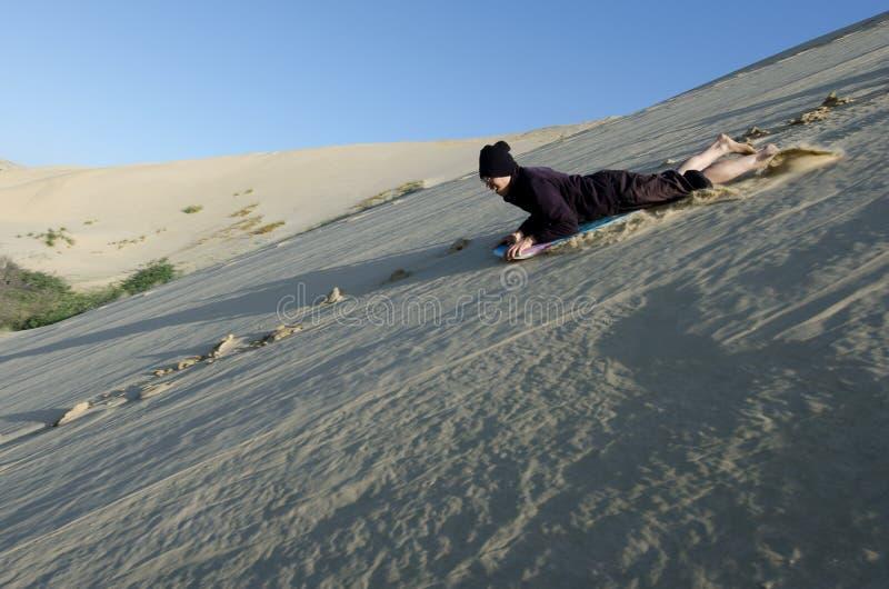 Dunas de arena de Te Paki imagen de archivo