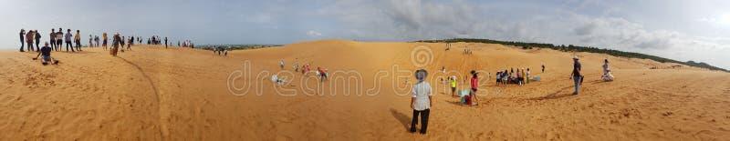 Dunas de arena del panorama de Mui Ne Vietnam fotografía de archivo