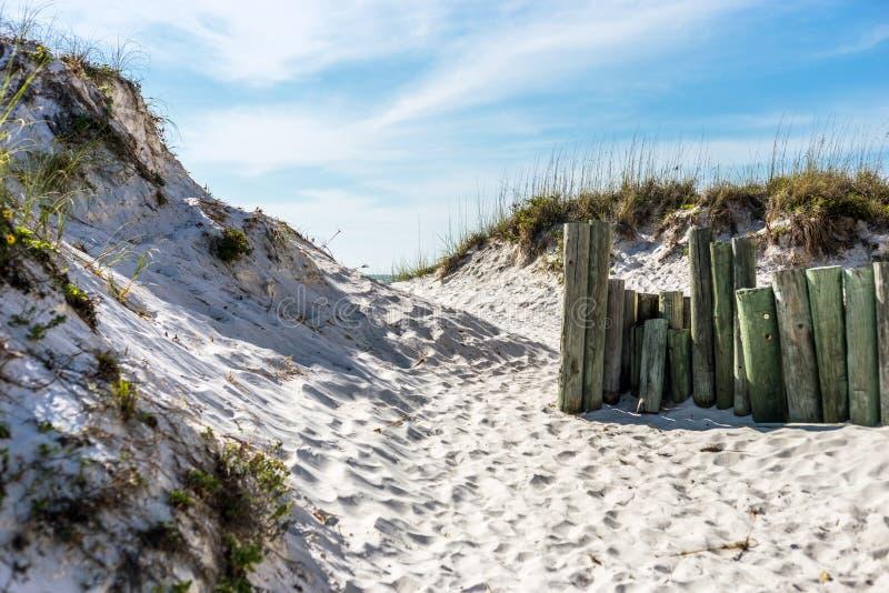 Dunas de arena en Clearwater imagen de archivo
