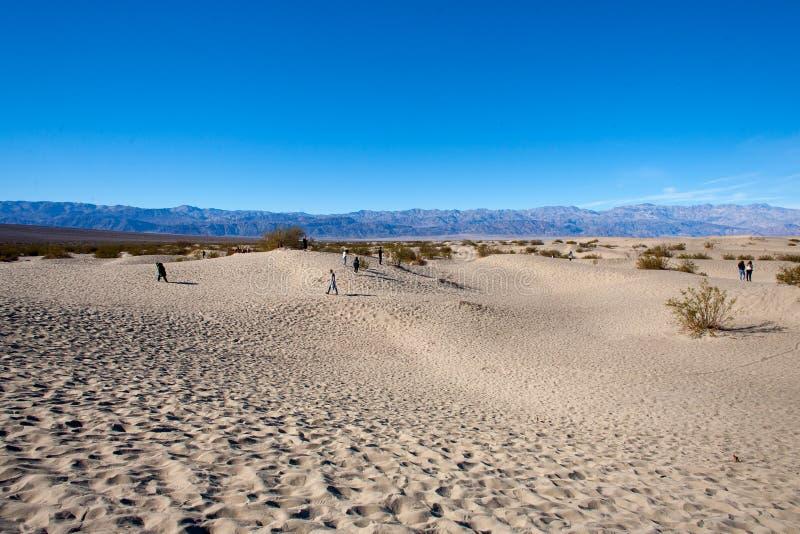 Dunas de arena en Death Valley California fotografía de archivo