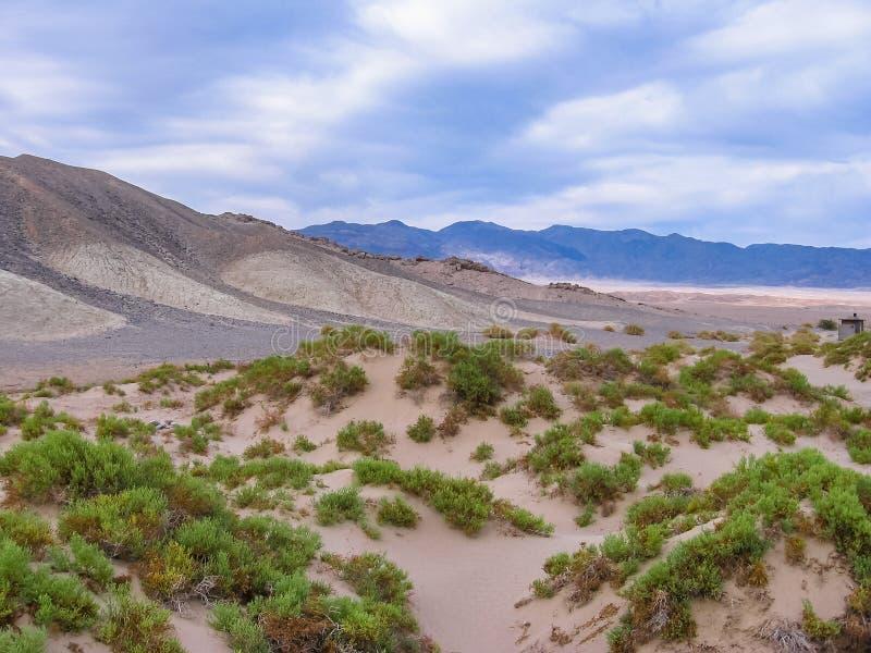Dunas de arena en el parque nacional de Death Valley fotos de archivo